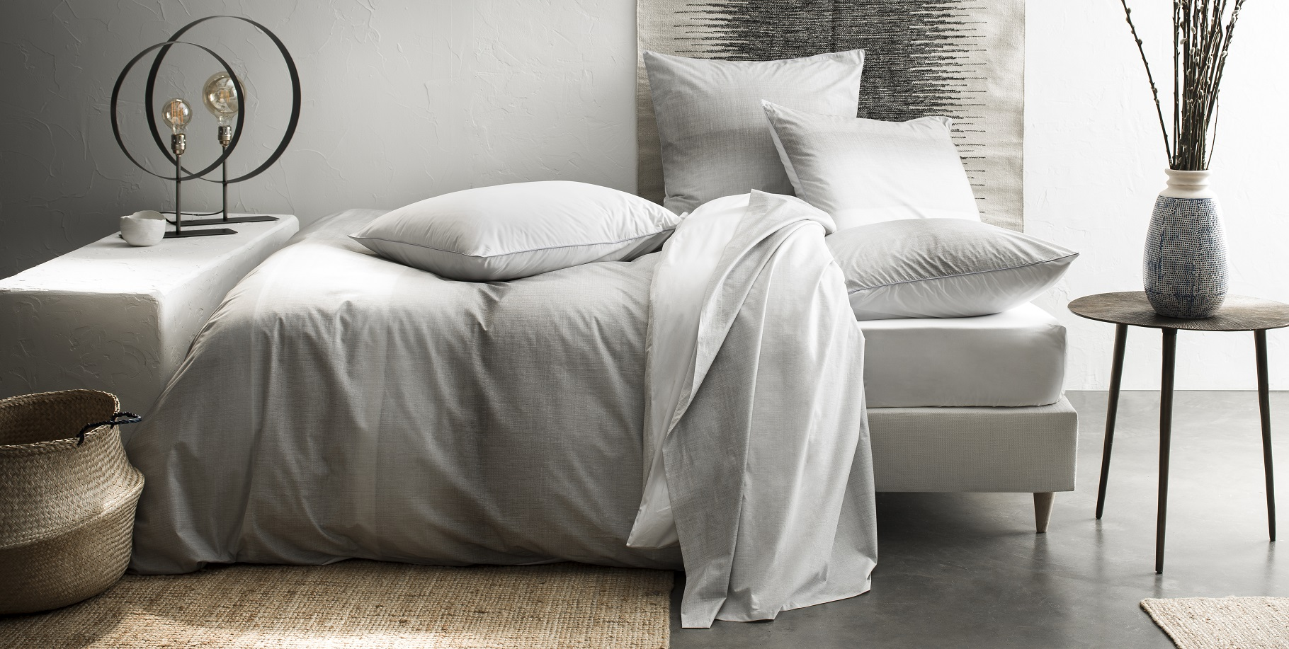 linge de lit en percale de coton. Black Bedroom Furniture Sets. Home Design Ideas